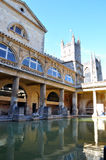 Baths and Abbey Stock Image