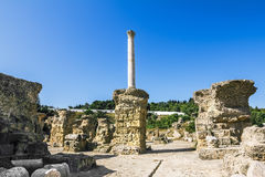Baths of Antonius in Carthage Tunisia Stock Images