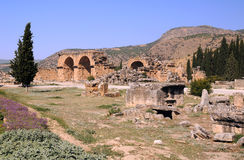 Baths Bazilica in Ancient Hierapolis Royalty Free Stock Images