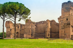 Baths of Caracala. Ruins Baths of Caracala in Roma Royalty Free Stock Image