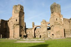 Baths of Caracalla. Thermae of Caracalla or Baths of Caracalla, ancient roman public baths and leisure center, Rome, Italy royalty free stock images