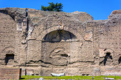 Baths of Caracalla, ancient ruins of roman public thermae. Built by Emperor Caracalla in Rome, Italy stock photography