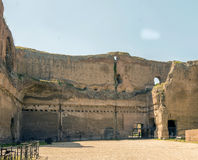 Baths of Caracalla, ancient ruins of roman public thermae. Built by Emperor Caracalla in Rome, Italy royalty free stock images
