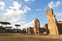 Baths of Caracalla in Rome, Italy. Baths of Caracalla in Rome.  The Baths of Caracalla became the most luxurious bath complex in Rome. It was built between 212 Royalty Free Stock Photography
