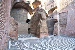 Baths of Caracalla in Rome, Italy. Baths of Caracalla in Rome.  The Baths of Caracalla became the most luxurious bath complex in Rome. It was built between 212 Stock Photography