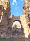 Baths of Caracalla in Rome, Italy Stock Image