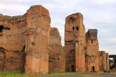 Baths of Caracalla. In Rome, Italy Stock Images