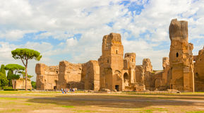 The Baths of Caracalla in Rome, Italy Stock Photo