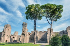 The Baths of Caracalla in Rome, Italy Stock Image
