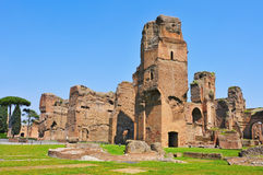 Baths of Caracalla in Rome, Italy Royalty Free Stock Photos