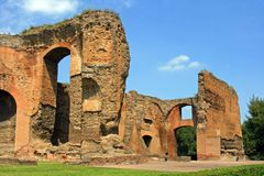 Baths of Caracalla. The ruins of the ancient baths of Caracalla Rome Italy Emperor Antonian Stock Photography