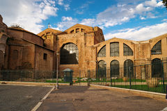 The Baths of Diocletian in Rome. The Baths of Diocletian (Thermae Diocletiani) in Rome Royalty Free Stock Images