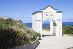 Baths entrance, Coogee, Sydney Stock Image
