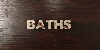 Baths - grungy wooden headline on Maple  - 3D rendered royalty free stock image Royalty Free Stock Photo