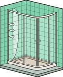 Baths isometric set Royalty Free Stock Images