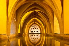 Baths of Lady Maria de Padilla Alcazar Seville Royalty Free Stock Photography