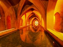 Baths of Lady Maria de Padilla in Alcazar of Seville, Spain Stock Image