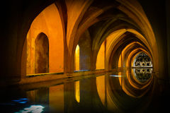 Baths in the royal alcazar of seville, spain Royalty Free Stock Photography