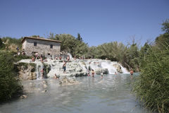Baths of Saturnia Royalty Free Stock Images