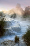 Baths of Saturnia morning Royalty Free Stock Image