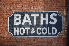 Baths sign Stock Photos