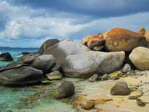 Baths on Virgin Gorda. The famous Baths on Virgin Gorda, British Virgin Islands stock images