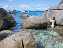 Baths at Virgin Gorda stock photos