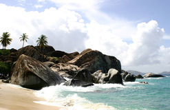 The Baths Virgin Gorda. Scenic view of the Baths beach on Virgin Gorda island, British Virgin islands royalty free stock photos