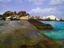 The Baths in Virgin Gorda Stock Images