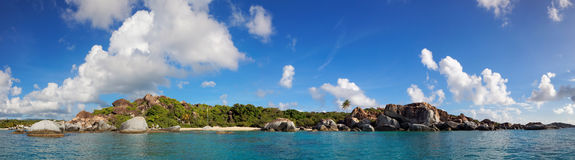 The Baths Virgin Gorda, British Virgin Island (BVI), Caribbean. Panoramic view of The Baths Virgin Gorda, British Virgin Island (BVI), Caribbean royalty free stock photo