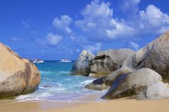 The Baths in Virgin Gorda, Caribbean. National park The Baths in Virgin Gorda , Caribbean royalty free stock images