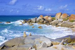 The Baths in Virgin Gorda, Caribbean. National park The Baths in Virgin Gorda , Caribbean royalty free stock photo