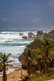 Bathsheba Rock, View to the Beach and Natural Park Royalty Free Stock Images