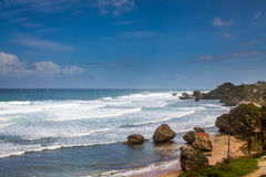 Bathsheba Rock, View to the Beach and Natural Park Stock Photo