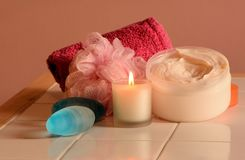 Bathtime accessories Stock Image
