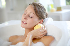 Bathtime and beauty Stock Images