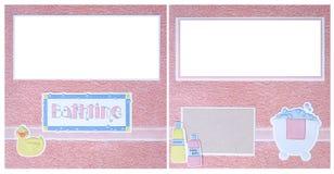 Bathtime Digital Einklebebuch-Seite lizenzfreies stockfoto
