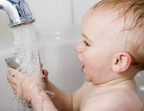 Bathtime fun Stock Image
