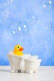 Bathtime gyckel Arkivfoto