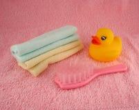 Bathtime para o bebê imagem de stock