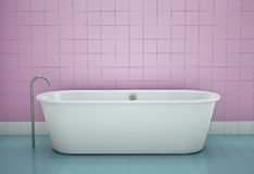 Bathtub. In a bathroom. 3D render Royalty Free Stock Images