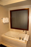 Bathtub. A empty bathtub with window beyond Stock Photography
