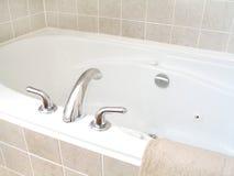 Bathtub 3. In the bathroom, bathtub with jets Stock Photos