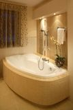 Bathtub. Bathroom interior with an elegant bathtub Stock Photography