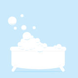 Bathtub. Illustration of a bathtub with bubbles Stock Images