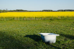Bathtub as a water tank Royalty Free Stock Images