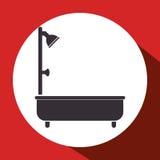Bathtub bathroom isolated icon Royalty Free Stock Image
