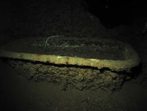 Bathtub in captains cabin of the SS Thistlegorm. Royalty Free Stock Photo