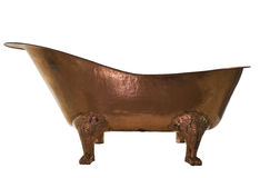 The bathtub copper on isolated background Stock Image