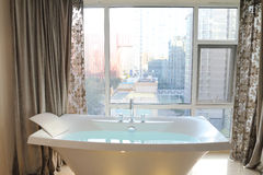 Bathtub. In the Hotel Room Royalty Free Stock Photography